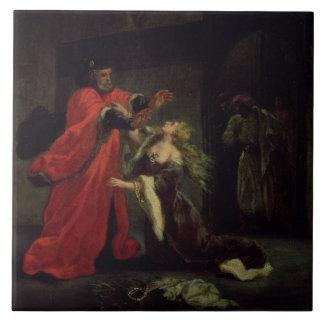 Acto I, escena 3: Desdemona que se arrodilla en su Azulejo Cuadrado Grande