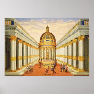 Acto I, escenas VII y VIII: El templo de Baccus Posters