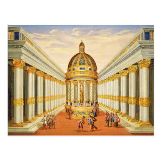 Acto I escenas VII y VIII El templo de Baccus Postales