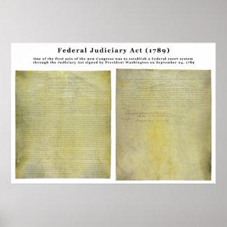 Acto judicial ORIGINAL de Estados Unidos de 1789 Poster