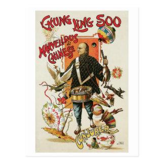 Acto mágico chino del vintage del ~ de Chungkin Tarjetas Postales