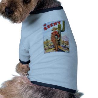 Acto mágico de la maravilla del vaquero del vintag camiseta de perro