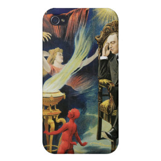 Acto mágico del vintage del Dreamland del ~ del ma iPhone 4 Carcasas