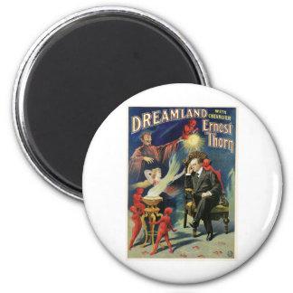 Acto mágico del vintage del Dreamland del ~ del ma Imán Redondo 5 Cm