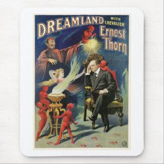 Acto mágico del vintage del Dreamland del ~ del ma Alfombrilla De Ratones
