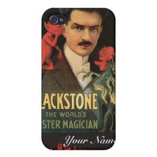 Acto mágico del vintage del mago del amo del ~ de  iPhone 4 carcasas