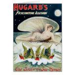 Acto mágico del vintage fascinador de la ilusión d tarjeta