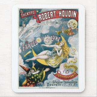 Acto mágico del vintage francés del mago del ~ de alfombrilla de ratón