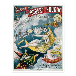 Acto mágico del vintage francés del mago del ~ de tarjetas postales