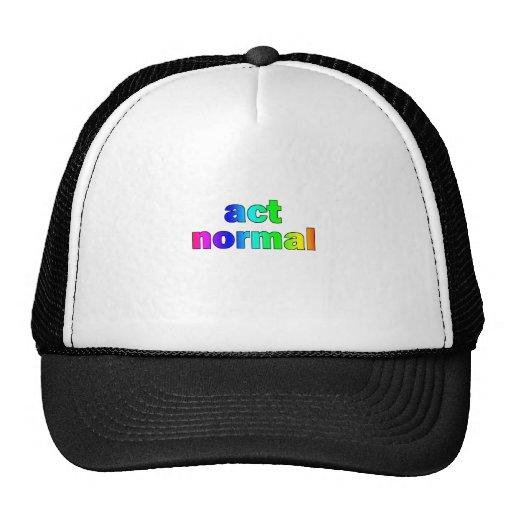 ¡Acto normal! (Arco iris) Gorros