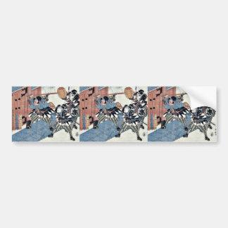 Acto once del Chushingura por Utagawa, Kuniyasu Etiqueta De Parachoque