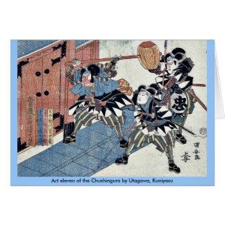 Acto once del Chushingura por Utagawa, Kuniyasu Tarjeta De Felicitación