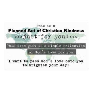 Acto previsto de la tarjeta cristiana de la plantillas de tarjetas personales
