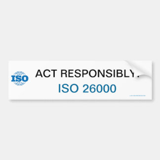 ¡Acto responsable! - ISO 26000 Pegatina Para Auto
