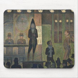 Acto secundario de circo de Jorte Seurat 1887 Alfombrilla De Ratones