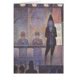 Acto secundario de circo por Seurat, arte del Tarjeta De Felicitación