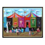 Acto secundario del carnaval postales