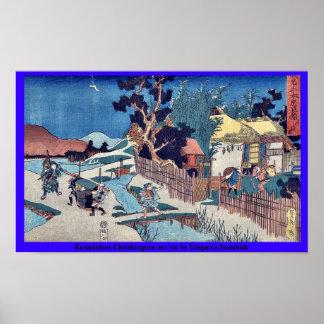 Acto seis de Kanadehon Chushingura por Utagawa, Sa Posters