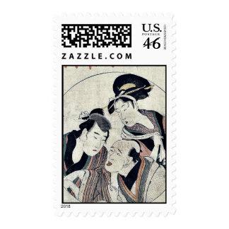 Acto seis del Chushingura por Kitagawa, Utamaro Sellos