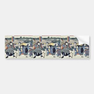 Acto seis del Chushingura por Utagawa, Kuniyasu Re Etiqueta De Parachoque