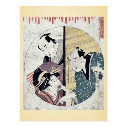 Acto siete del Chushingura por Kitagawa, Utamaro Tarjeta Postal