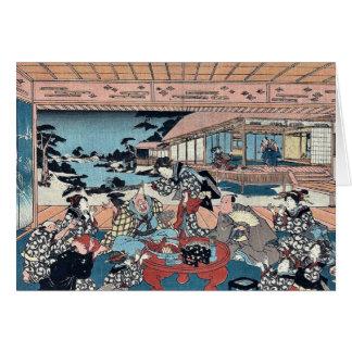 Acto siete por Utagawa, Toyokuni Ukiyoe Tarjetón
