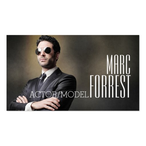 Actor Actress Model Headshot ing Theater Business Card