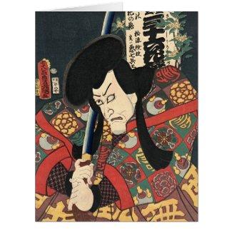Actor Aku Hichibei 1863 Large Greeting Card