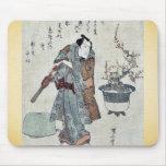 Actor and a potted plum tree by Utagawa,Kuniyasu Mouse Pad