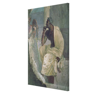 Actor and Mask, from the House of the Tragic Poet, Canvas Print