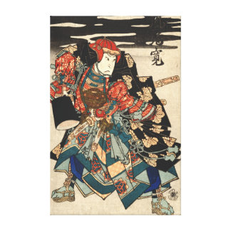 Actor Arashi Rikan 1830 Stretched Canvas Prints