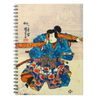 Actor as Kurando Yukinaga 1847 Spiral Notebook