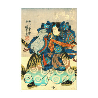 Actor as Samurai Kunitake 1847 Canvas Print