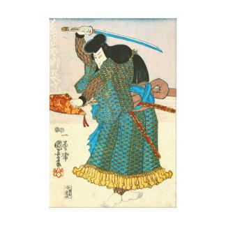 Actor as Samurai Nagamune 1847 Gallery Wrap Canvas