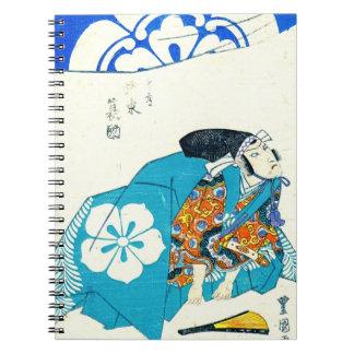 Actor Bando Minosuke 1825 Spiral Notebook