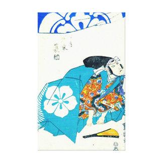 Actor Bando Minosuke 1825 Stretched Canvas Print
