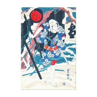 Actor Bando Mitsugoro V 1825 Gallery Wrapped Canvas
