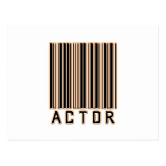 Actor Barcode Post Card