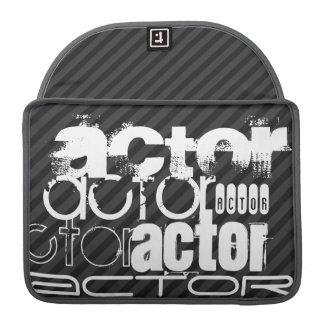 Actor; Black & Dark Gray Stripes MacBook Pro Sleeve