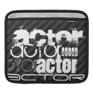 Actor; Black & Dark Gray Stripes Sleeve For iPads