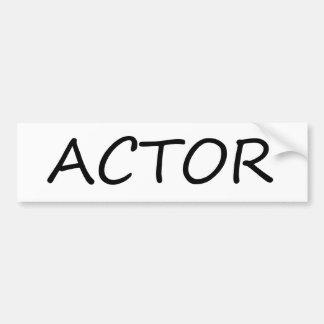 Actor Car Bumper Sticker