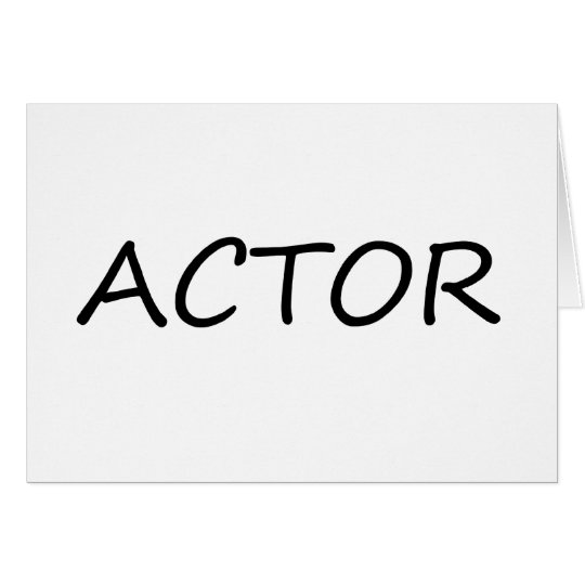 Actor Card