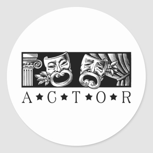 Actor clásico pegatina redonda