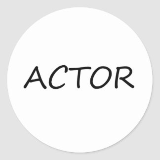 Actor Classic Round Sticker