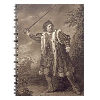 Actor David Garrick 1772 Spiral Notebook