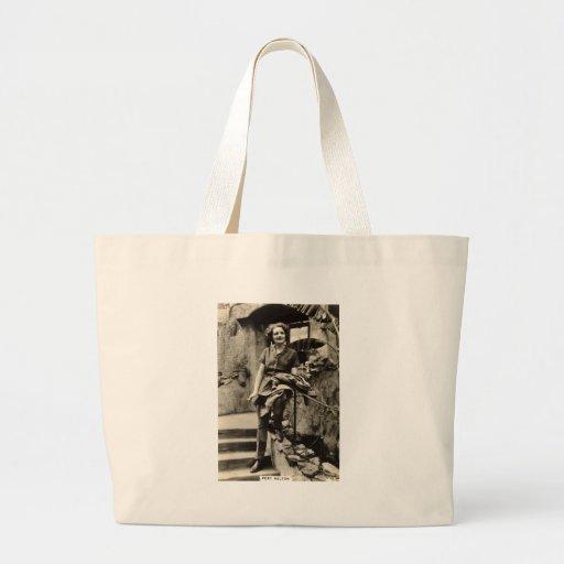 Actor de cine de los años 30 del vintage modelo bolsa