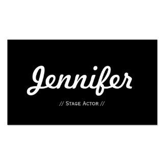 Actor de etapa - sucinto simple mínimo tarjeta de negocio