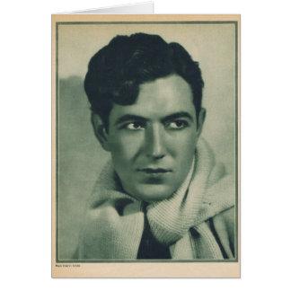 Actor de la película muda de Johnny Mack Brown Tarjeta De Felicitación