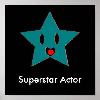 Actor de la superestrella impresiones