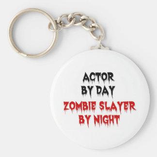 Actor del asesino del zombi del día por noche llavero redondo tipo pin